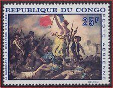 1960 CONGO PA N°71** Tableau Delacroix, révolution française, la barricade MNH