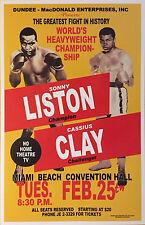 REPLICA Muhammad Ali aka Cassius Clay vs. Sonny Liston Boxing Fight Poster