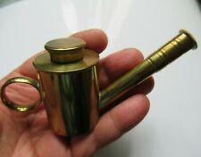 RARE ANCIEN BELLE LAMPE à HUILE de BALEINE ART POPULAIRE 19 e WHALE OIL LAMP