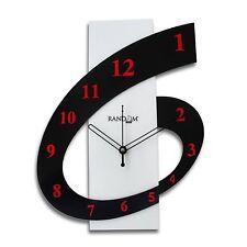 "Wall Clock Rectangle Shape Clock English Numerals Clock 12"" Home Decor"