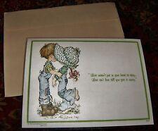NOS Vintage Placemat Laminated Snack Mat VALENTINE Card Vinyl 70's Mint Love