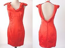 SEDUCE Size 10 US 6 Sleeveless Backless Red Sheath Dress rrp $299.95
