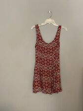 Forever 21 XL Red Geometric Pattern Sleeveless Dress Top Tie Back