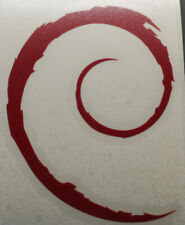 Debian Swirl Sticker-Large-Linux GNU OS Opensource pc portable phone
