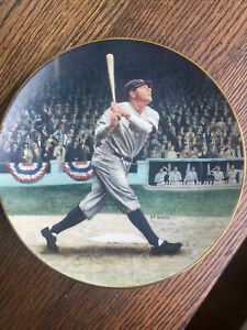 BABE RUTH: THE CALLED SHOT By BRENT.BENGER Baseball Collector Plate No. 48B