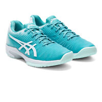 Asics Womens Solution Speed FF Tennis Shoes Green Sports Breathable Lightweight