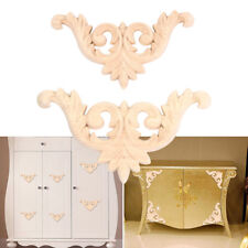 1PC Wood Furniture Appliques Decals Bed Cabinet Door Drawer Decor DIY 10*7*0.8cm