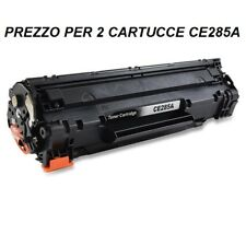 CARTUCCIA X 2 TONER PER STAMPANTE HP LASERJET P1102 P1102w TONER CE285A 85A