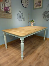 Shabby Chic Pine 5ft Over 6ft Farmhouse Extending Table No Chairs Seats 6 8 10