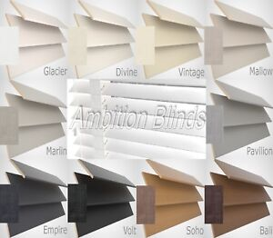 WOOD WOODEN VENETIAN BLINDS WITH TAPES REAL WOOD MADE TO MEASURE NEW COLOURS
