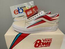 0a04674ef4f85f Vans x David Bowie Old Skool Aladdin Sane Cream White Red Blue Size 4-13