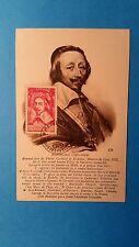 FRANCE CARTE MAXIMUM YVERT 305 RICHELIEU 1F50 PARIS 1937 L 158