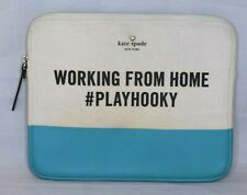 Kate Spade New York Teal WORKING FROM HOME #PLAYHOOKY Ipad Sleeve Cover Case