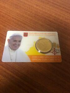 coincard 50 cents Vatican 2017 armoiries du Pape François coin card Num 8