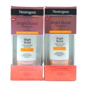 Neutrogena 2 Pack Bright Boost Moisturizer Sunscreen SPF 30 EXP 04/2021