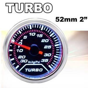 """Car Turbo Boost Gauge Pointer Needle Digital Pressure Meter Psi Vacuum 2"""" 52mm"""