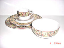 DOULTON CINNABAR PATTERN  5 PIECE PLACE SETTING  BY ROYAL DOULTON 1996-2008