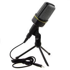 Condenser Microphone Cardioid Audio Studio Vocal Recording Mic desk tripod 3.5MM