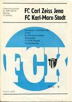 Programmheft, Juniorenoberliga, FC Carl Zeiss Jena - FC Karl-Marx-Stadt 1984/93