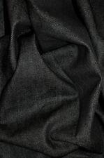 "13oz BLACK STRETCH DENIM COTTON ELASTANE JEANS FABRIC BY THE METRE 57"" WIDTH"