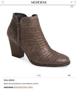 Paul Green Womens Malibu  Ankle Fashion Boots, Grey Metallic , Size 7