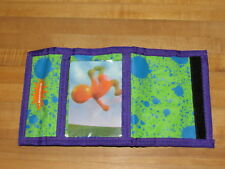 Vintage 1995 Nickelodeon Splat Blob Velcro Lenticular Wallet splatter nick
