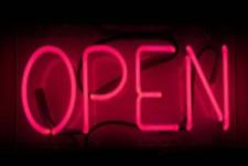 "Open Neon Sign Acrylic 14"" Light Lamp Decor Beer Pub Ice Cream Cafe Bar Pizza"