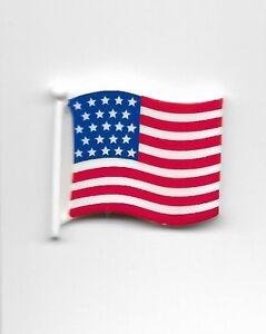 1 U S Flag Button Sewing Scrapbook Craft 24850