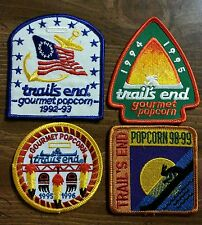 Set of 4 Trail's End Gourmet Popcorn Boy Scout patches