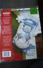 "2012 Bucilla 86059 Snowflake Snowman 18"" felt stocking kit Maria Stanziani NEW"