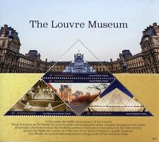 More details for marshall islands 2018 mnh louvre museum 4v m/s museums architecture stamps