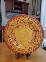"Pier 1 11.25"" Dinner Plate Handpainted Karistan EUC"