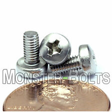 M3 x 6mm - Qty 10 - Stainless Steel Phillips Pan Head Machine Screws DIN 7985 A