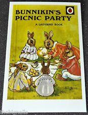 Ladybird Book Cover Postcard BUNNIKIN'S PICNIC PARTY new