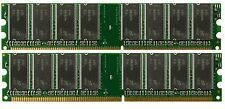 2GB DDR PC2100 2 GB PC 2100 2X 1GB 266 DESKTOP MEMORY