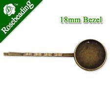 50 pcs antique bronze métal clip Pins Broches Bijoux Making Crafts 34476