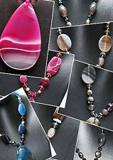 48 cm Halskette Achat Steinschmuck Steinkette Achatkette NEU