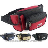 Unisex Larger BUM BAG Travel Utility Practical Handy Fanny Pack Waist 5 Colours