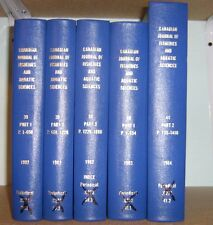 5 Books of Canadian Journal of Fisheries and Aquatic Sciences 1982-84