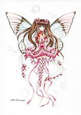 PINK CHAMPAGNE FAERIE Anime Fairy Post Card Faery Postcard Nene Thomas