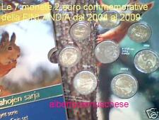 2009 7 x 2 euro FINLANDIA finlande Suomi finland Finnland 2004 2005 2006 2007