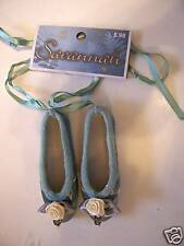 BLUE VICTORIAN BALLET SHOES DECORATION CHRISTMAS SPRING