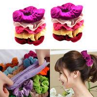 10er Pack Elastisch Haargummis Samt Pferdeschwanz Halter Multicolor Haarband