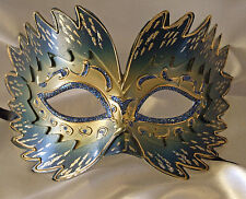 Venetian Mask Star Burst Blue Prom Mardi Gras Masquerade Costume Party