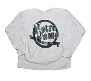 Vintage 1980s Champion Reverse Weave University Of Notre Dame Sweatshirt size L