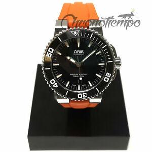 Chronotiempo Orange Silicone Band ORIS Aquis Date Watch Strap 24mm 12mm Bracelet
