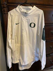 Nike Oregon Ducks Jacket 1/4 Zip. White Large