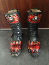 New Rocks M.591-S1 reactor rouge taille 45 Bottes flammes metal 591