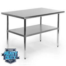 """Open Box - Stainless Steel Commercial Kitchen Work Food Prep Table - 30"""" x 48"""""""