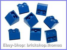 Lego 8 x Schrägstein negativ blau 2x2 - 3660 - Slope Inverted Blue - NEU / NEW